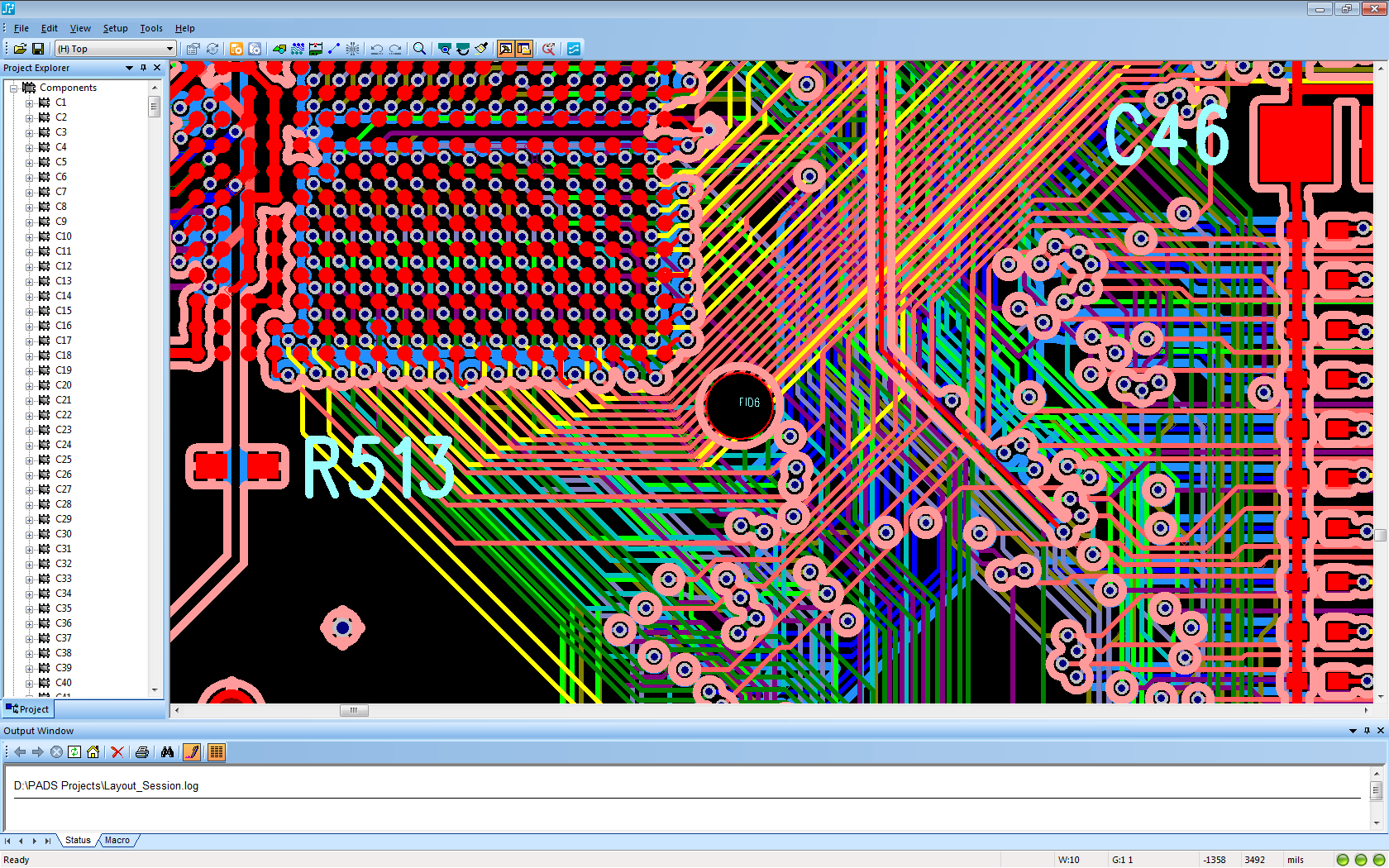 Designing Of Measuring Electronics Technology Transfer Agency Printed Circuit Board Projects A Design Fragment 10 Layer